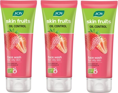 Joy Oil Control (Strawberry) Pack of 3 Face Wash