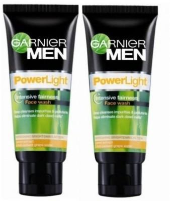 Garnier Men Power Light Intensive Fairness - (Pack of 2) Face Wash