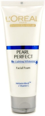 L,Oreal Paris Dermo Expertise Pearl Perfect Re-Lighting Whitening Facial Foam, Face Wash