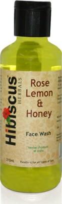 Hibiscus Herbals Rose Lemon  Face Wash