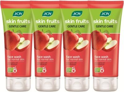 Joy Skin Fruits Gentle Care (Apple) (Pack of 4 x 50 ml) Face Wash