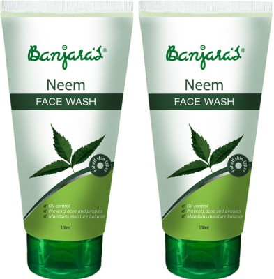 Banjaras Neem 2 Packs Face Wash(100 ml)