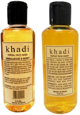 Khadi Herbal Face wash pack of 2 Face Wash