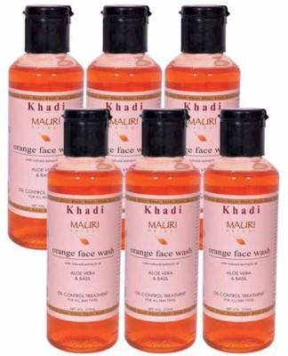 Khadimauri Orange Face Wash - Pack of 6 - Premium Herbal Face Wash