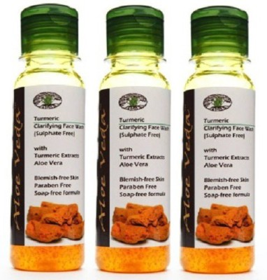 ALOE VEDA Turmeric Clarifying - Sulphate Free pack of 3 Face Wash
