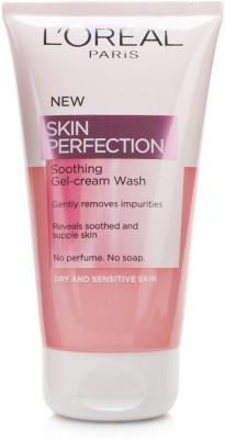 L Oreal Paris Skin Perfection Soothing Gel-Cream for Dry and Sensitive Skin Face Wash(150 ml)