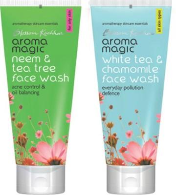 Aroma Magic Neem And Tea Tree ,White Tea & Chamomile Face Wash