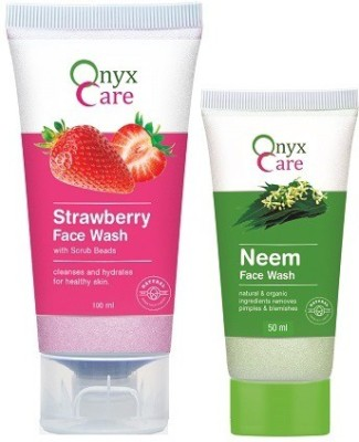 Onyx Care Strawberry With Scrub Beads Face Wash