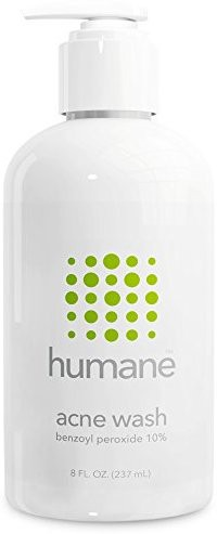 Humane Benzoyl Peroxide 10% Acne Treatment Body &  Face Wash(236.56 ml)