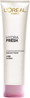 L ,Oreal Paris Hydrafresh Hydrating Refreshing Creamy Foam Face Wash