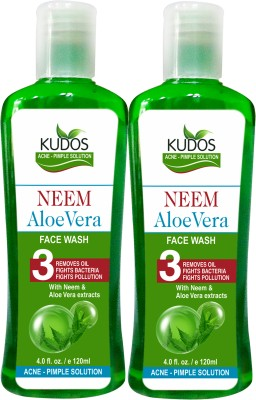 Kudos Neem Aloevera Face Wash Ayurvedic X2 Pack Face Wash