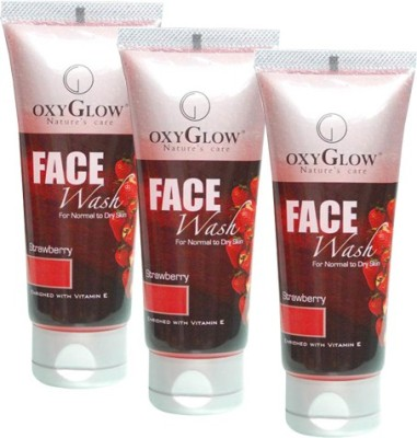 Oxyglow Strawberry Pack of 3 Face Wash