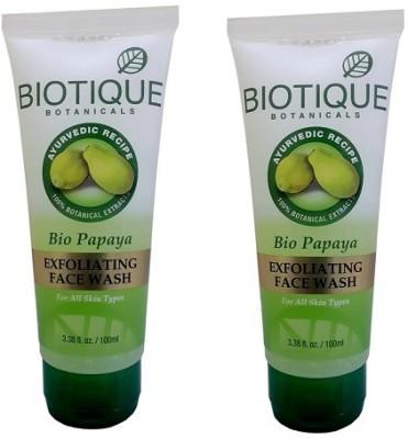 Biotique Bio Papaya Exfoliating(Pack of 2 ) Face Wash