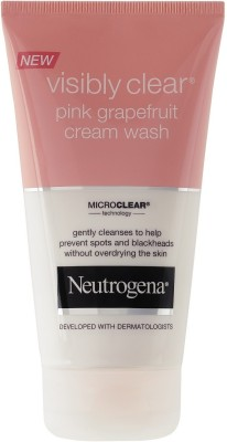 Neutrogena Visibly Clear Pink Grapefruit Cream Face Wash(150 ml)