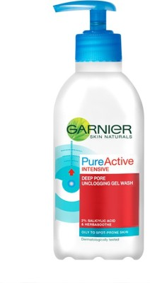 Garnier Skin Naturals Pure Active Deep Pore Unclogging Wash (Made In UK) Face Wash