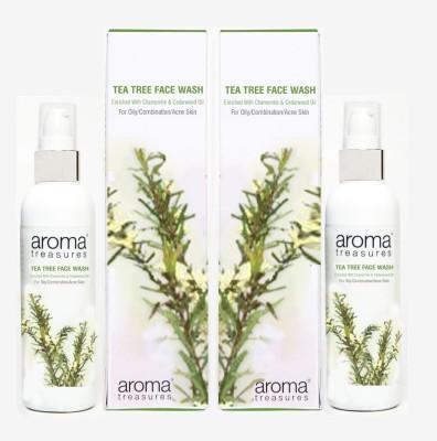 Aroma Treasures Tea Tree (100ml) (Pack Of 2) Face Wash
