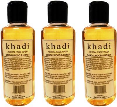 Khadi Herbal Sandalwood & Honey of pack of 3 Face Wash