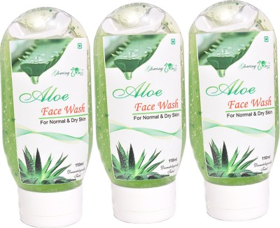 Glowing Buzz Combo of 2 Herbal Aloe  Face Wash