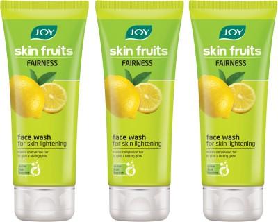 Joy Lemon (Fairness) Pack of 3 Face Wash