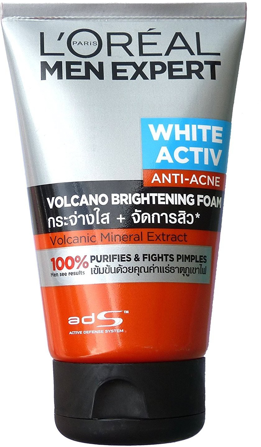 Face Washes Revitalift Milky Cleansing Foam Loreal Paris Men Expert White Active Anti Acne Volcano Brightening Wash