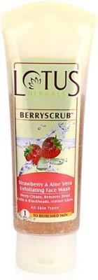 Lotus BerryScrub Strawberry & Aloe Vera Exfoliating Face Wash