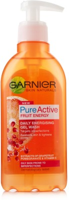 Garnier Pure Active Fruit Energy Gel Wash (Made In UK) Face Wash
