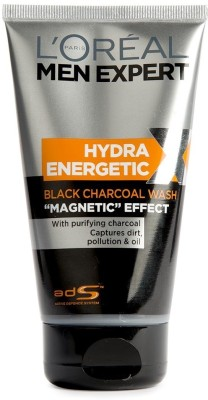 L,Oreal Paris Men Expect Hydra Energetic Black Charcoal  Face Wash