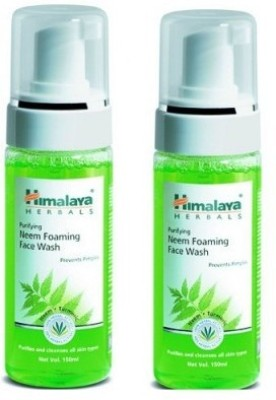 Himalaya Herbas Purifying Neem Foaming Face Wash (Pack of 2) Face Wash