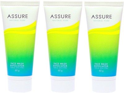 Assure Natural Pure Exfoliator (Pack of 3) Face Wash