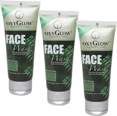 Oxyglow Neem & Tulsi Pack of 3 Face Wash