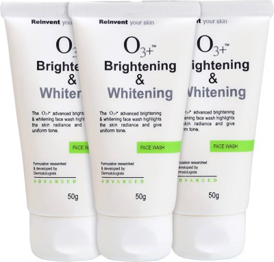 O3+ Brightening & Whitening Face Wash - Pack of 3 Face Wash