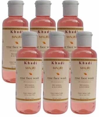 Khadimauri Rose Face Wash - Pack of 6 - Premium Herbal Face Wash