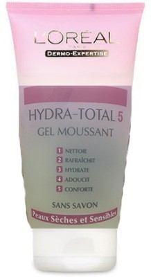 L,Oreal Paris Hydra - Total 5 Gel Moussant Wash Imported Face Wash