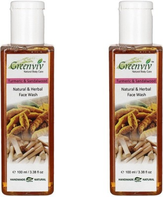 Greenviv Natural Turmeric & Sandalwood  Face Wash