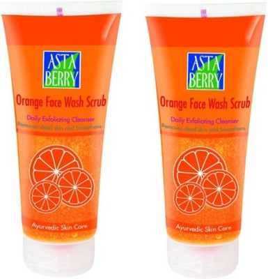 Astaberry Orange Scrub-Pack of 2 Face Wash
