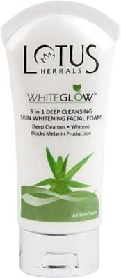 Lotus White Glow 3 In 1 Deep Cleansing Skin Whitening Facial Foam Face Wash