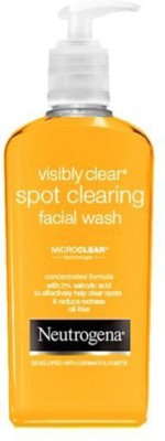 Neutrogena Visibly Clear Spot Clearing Facial Wash Face Wash