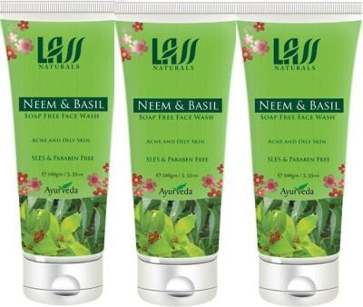 Lass Naturals Neem & Basil Face Wash Combo ( Set of 3 ) Face Wash