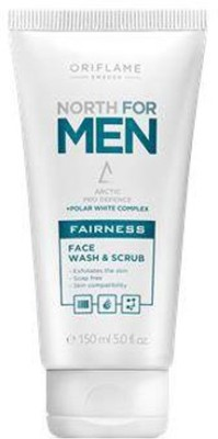 Oriflame Sweden north for men fairness face wash & scrub Face Wash(150 ml) at flipkart