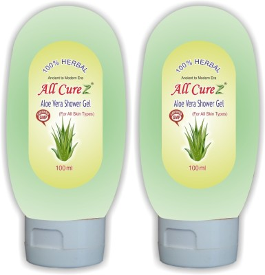 All Curez Aloe Vera Shower Gel (Set of 2) Face Wash