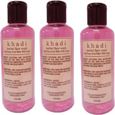 Khadi Herbal Honey Rose water with Lemon Face Wash