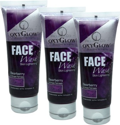Oxyglow Bearberry & Grape Fairness Pack of 3 Face Wash