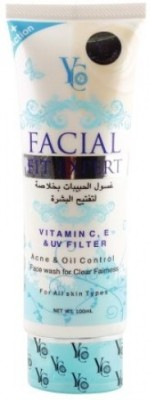 YC Clear Fairness with Vitamin C, E & UV protection Face Wash