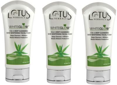 Lotus 3 In 1 Deep Cleansing Skin Whitening Facial Foam - Whiteglow Face Wash