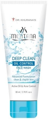 Montana Active Oil Control Deep Clean Face Wash 100 ml By Dr. Khurana's Face Wash
