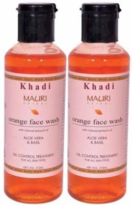 Khadimauri Orange Face Wash - Pack of 2 - Premium Herbal Face Wash