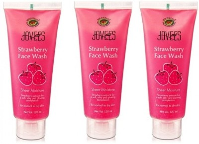 Jovees Face Wash - Strawberry (Pack Of 3) Face Wash
