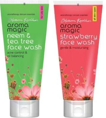 Aroma Magic Neem And Tea Tree , Strawberry Face Wash