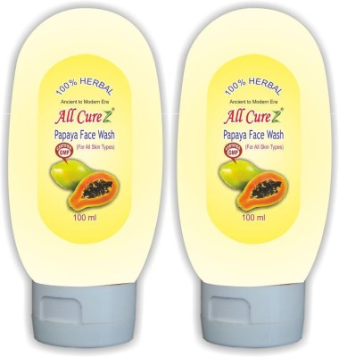 All Curez Papaya (Set Of 2) Face Wash