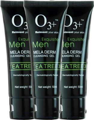O3+ Men Tea Tree Mela Derm Cleansing Gel - Pack of 3 Face Wash